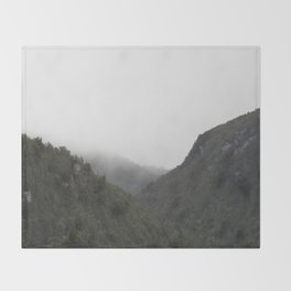 The Misty Mountains Call Throw Blanket