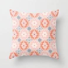 Geodome - Pink Throw Pillow