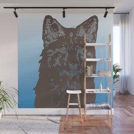 Fox Woodcut Wall Mural