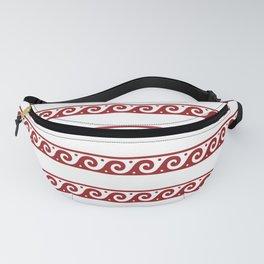 Red Greek wave pattern Fanny Pack