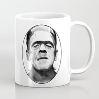 frankenstein Mugs featuring Frankenstein by Zombie Rust