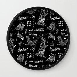America black art#2 Wall Clock