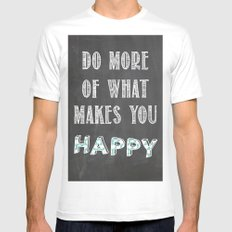 Quote, inspiration chalk board  White Mens Fitted Tee MEDIUM
