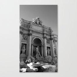 rome italy trevi fountain Canvas Print