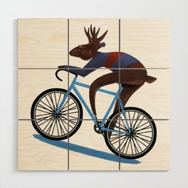 'Tis the season to be cycling Wood Wall Art