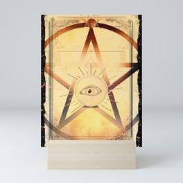 Pentacle Eye Mini Art Print