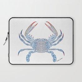 Tribal Blue Crab Laptop Sleeve