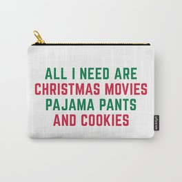 Christmas Movies Funny Xmas Quote Carry-All Pouch