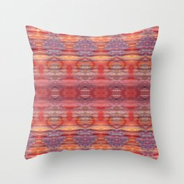 Red and Purple Watercolor Pattern Throw Pillow