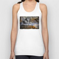 snow leopard Tank Tops featuring Snow Leopard by Jennifer Rose Cotts Photography