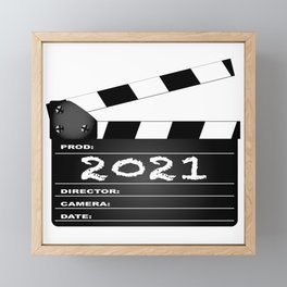 2021 Clapper Board Framed Mini Art Print