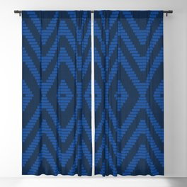 Rattan in Blue Blackout Curtain