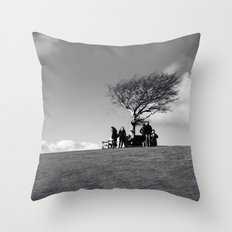 at the meeting place... Throw Pillow