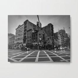 New York City - SoHo 005 BW Metal Print