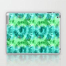 Summer Vibes Tie Dye Spirals in Blue Green Laptop & iPad Skin