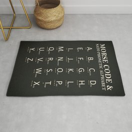 Morse Code And Phonetic Alphabet Rug