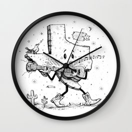 Texas Music Wall Clock