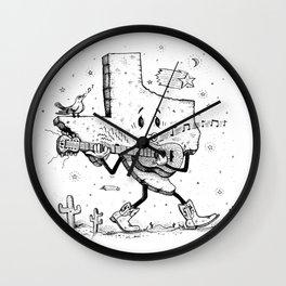 Texas Music Wall Clock