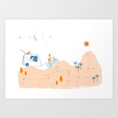 from Paloma to Damian Art Print