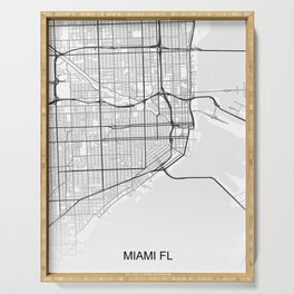 Miami street map Serving Tray