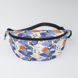 folk spring flowers no2 Fanny Pack