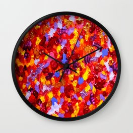 Abstract Red 002 Wall Clock