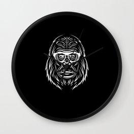 Gorilla King with Glasses Sunglasses Alpha Wall Clock