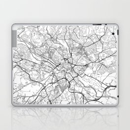 Leeds Map White Laptop & iPad Skin