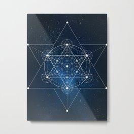 Sacred Geometry Galaxy Metal Print