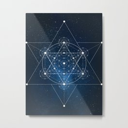 Sacred Geometry Galaxy Metal Print