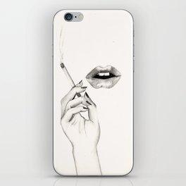 Cigarette Lips iPhone Skin