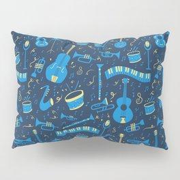 The Spirit of Jazz Pattern Pillow Sham