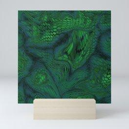 green iguana Mini Art Print