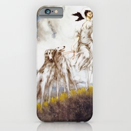 Louis Icart - Hunting - Supreme Delight - Digital Remastered Edition iPhone Case