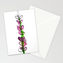 Lavender - Watercolor doodles Stationery Cards