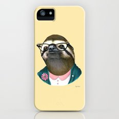 Sloth Lady art print by Ryan Berkley Slim Case iPhone SE