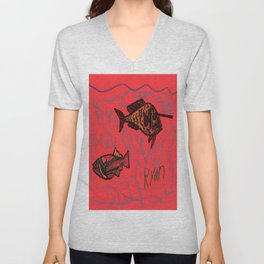 Unicorn Fish Unisex V-Neck