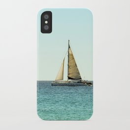 Sail Away with Me - Ocean, Sea, Blue Sky and Summer Sun iPhone Case