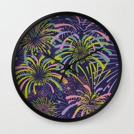 Dazzling fireworks Wall Clock