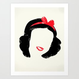 Snow's Hair Art Print