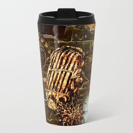 Steampunk, micropphone Metal Travel Mug
