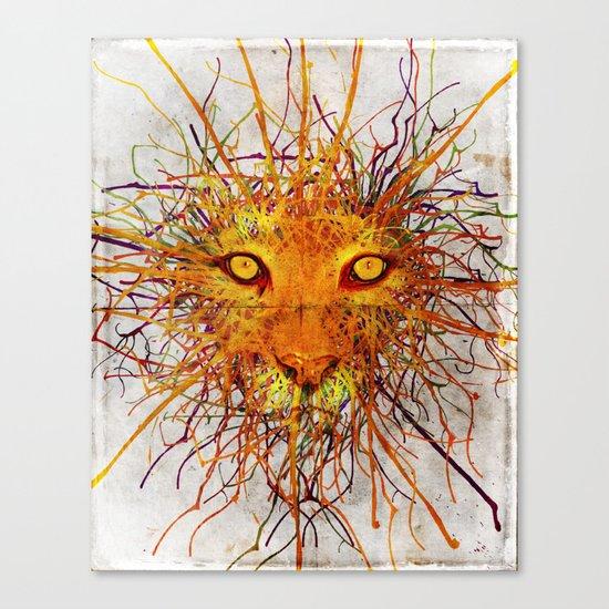 Lion Drip Canvas Print