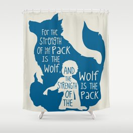 Strength of the Pack - Wolf and Child Shower Curtain