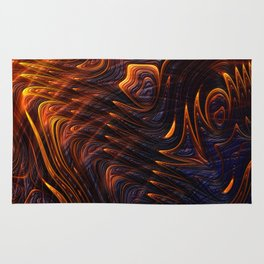 Lava Flow Abstract Rug