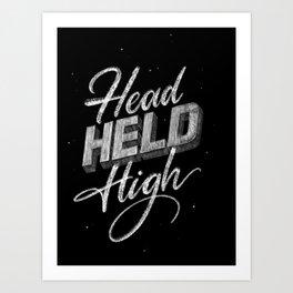 Head_Held_High Art Print