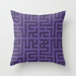 Snake Very Violet Throw Pillow