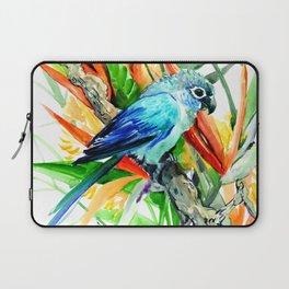 Tropical Foliage, Parrot Jungle floral design Laptop Sleeve
