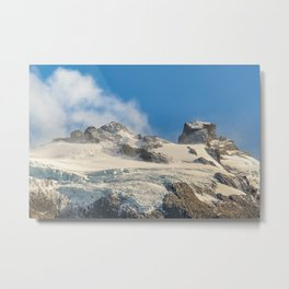 Snowy Andes Mountains, Patagonia - Argentina Metal Print