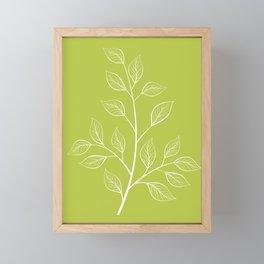 Chartreuse Green Leaf Botanical Illustration Framed Mini Art Print
