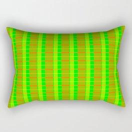 Lime Bars Plaid Rectangular Pillow